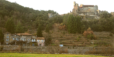 terrassier et muret dans les Cévennes