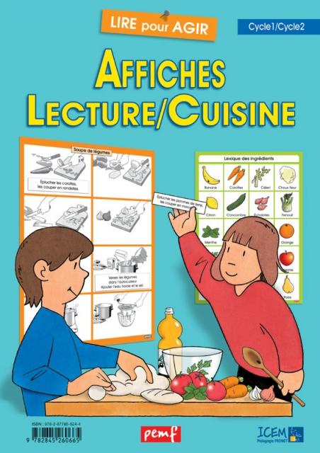 Affiches lecture cuisine lire pour agir coop 39 icem - Atelier cuisine maternelle ...
