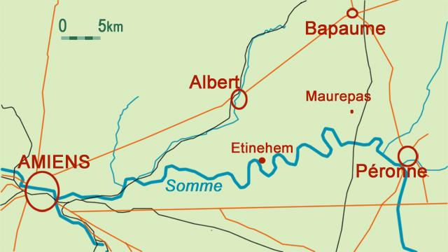Maurepas - Somme 14-18 - carte Annie Dhénin