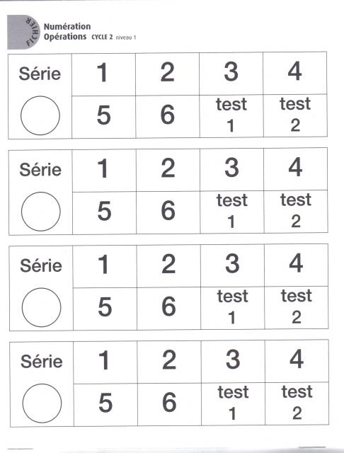 Sehr Fichier de numération Cycle 2 Niveau 1 GS | Coop'ICEM MW07